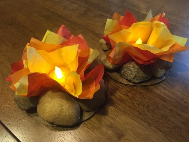 Tissue Paper Craft Campfire