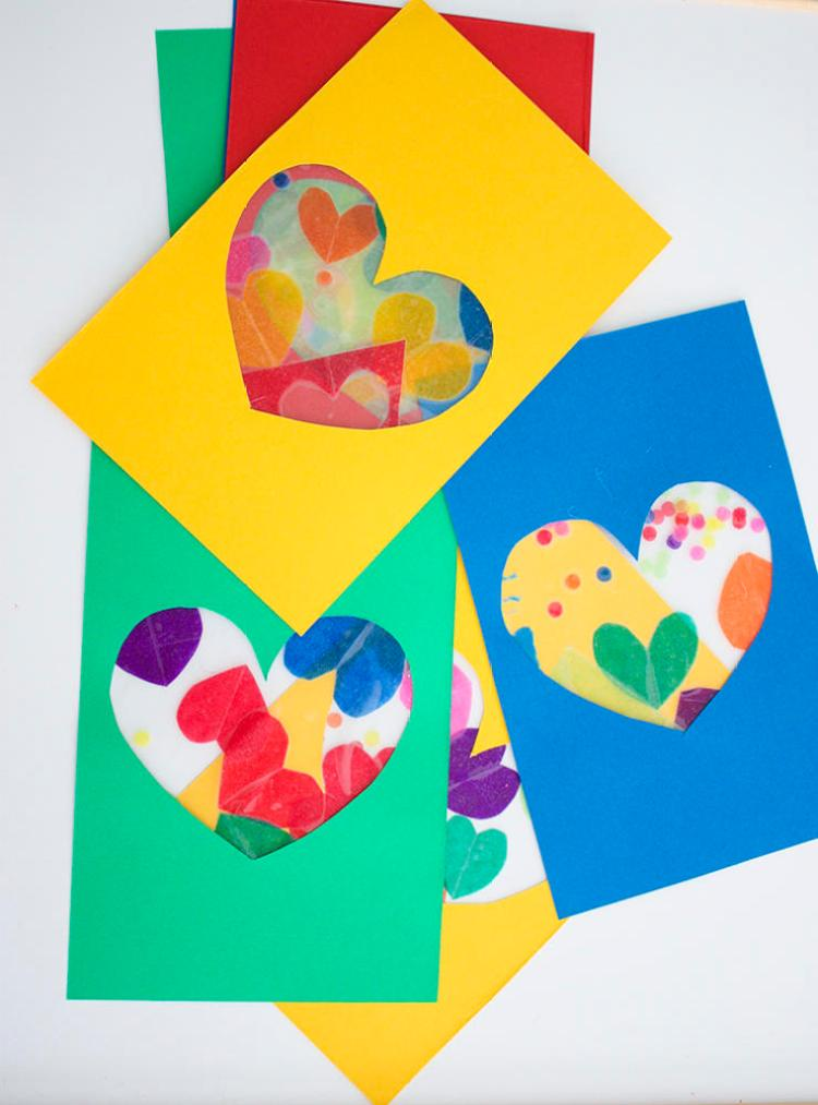 Tissue Paper Craft Heart