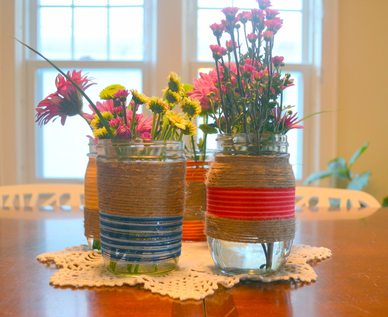 Embroidery Floss Mason Jar