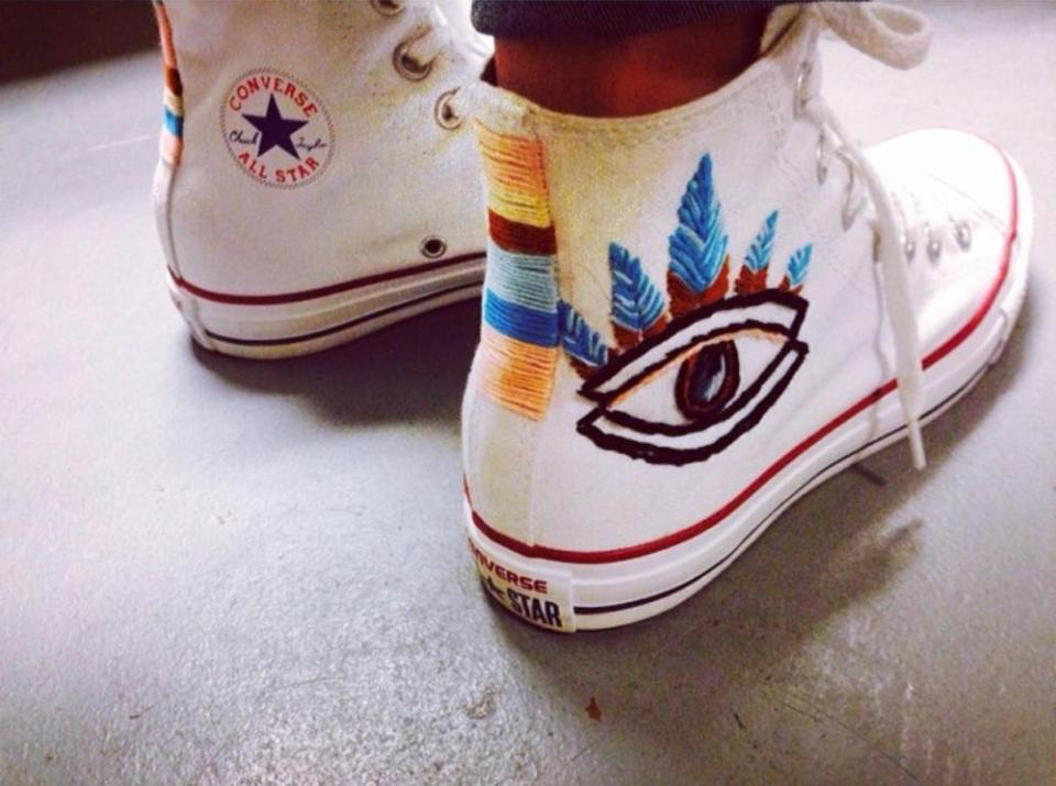 Embroidery Floss Sneakers
