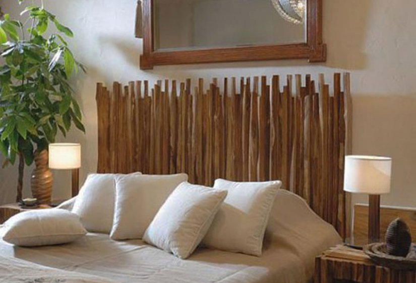 Wood Crafts Stick Headboard