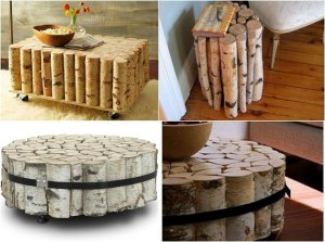 Wood Crafts Log Table