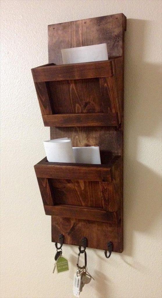 Wood Crafts Mail Sorter