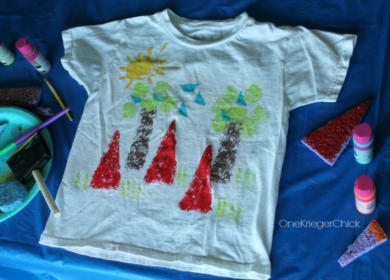 Camping Crafts Painted Shirt