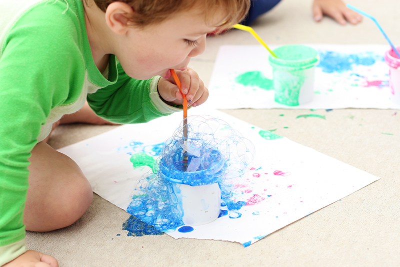 Crafts for Toddlers Bubble Painting