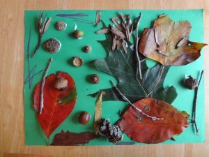 Crafts for Toddlers Nature Collage