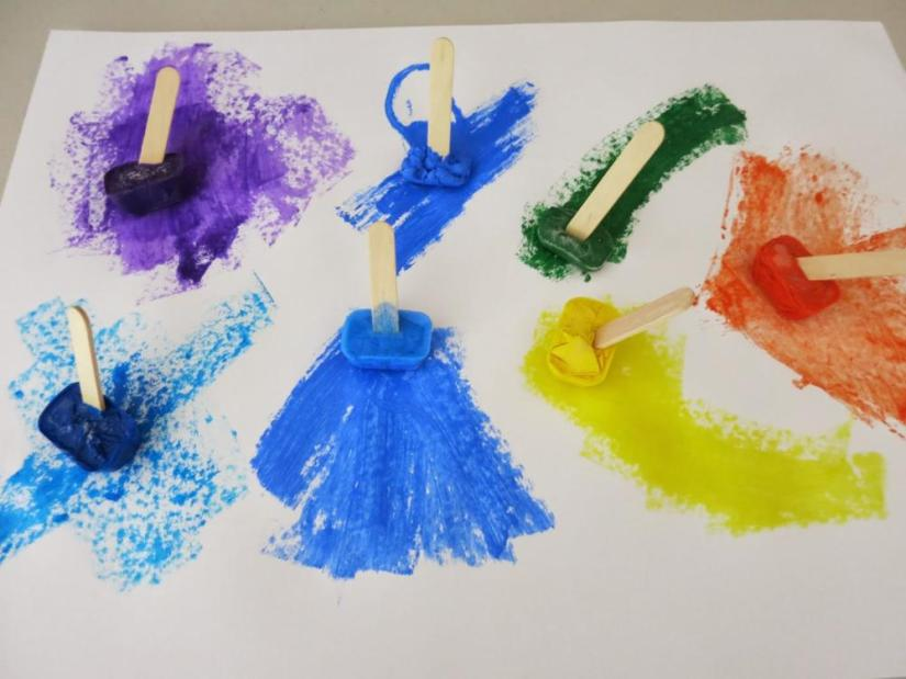 Crafts for Toddlers Frozen Art