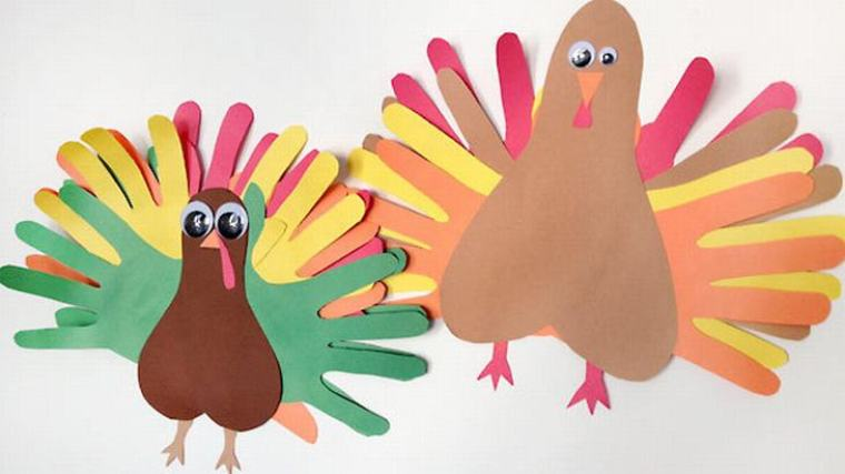 Crafts for Toddlers Handprint Turkey