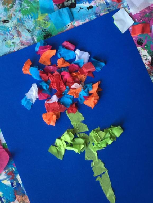 Crafts for Toddlers Paper and Tissue