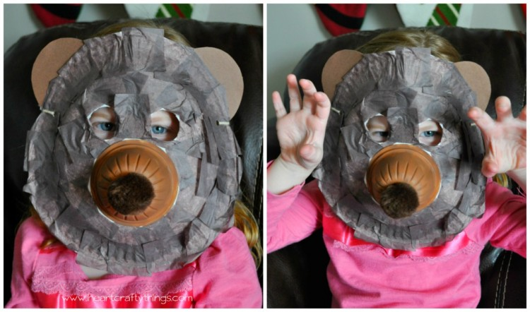 Paper Plate Craft Bear