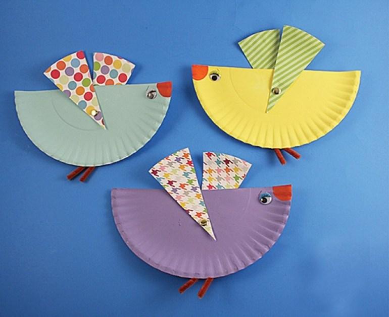 Paper Plate Craft Birds