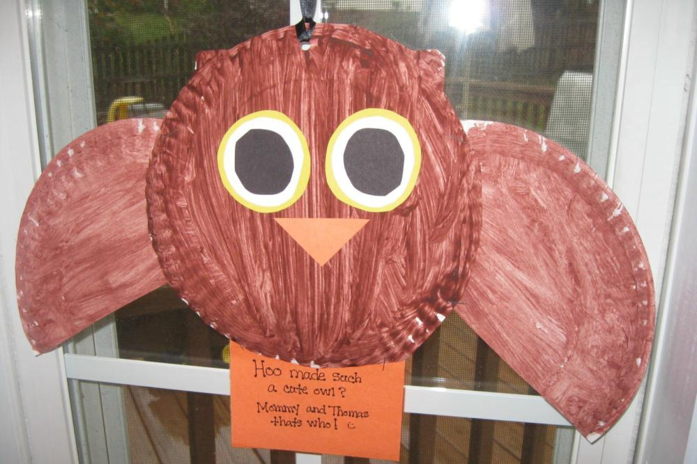 Paper Plate Craft Owl & paper-plate-craft-brown-owl | No More Still