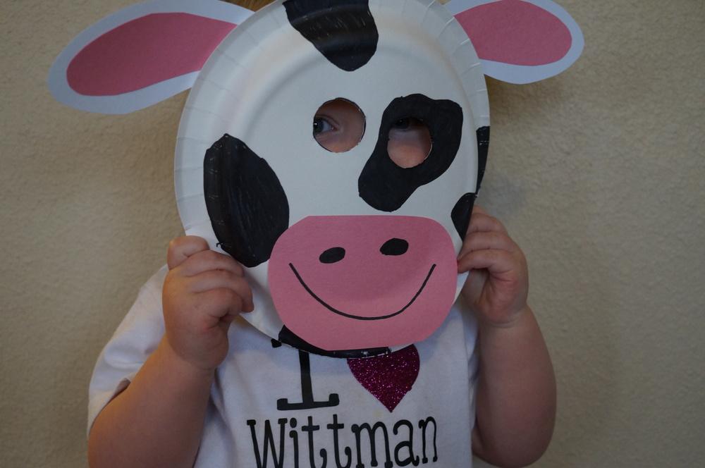 Paper Plate Craft Cow & paper-plate-craft-cow-mask | No More Still