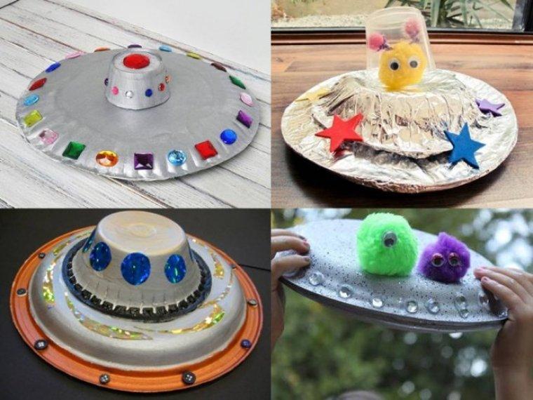 Paper Plate Craft UFO