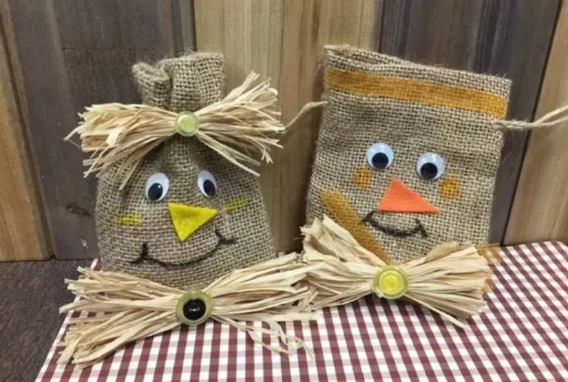 Simple Craft Burlap Halloween