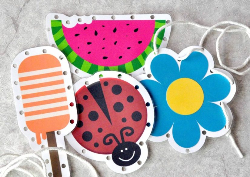 Spring Crafts Lacing Cards