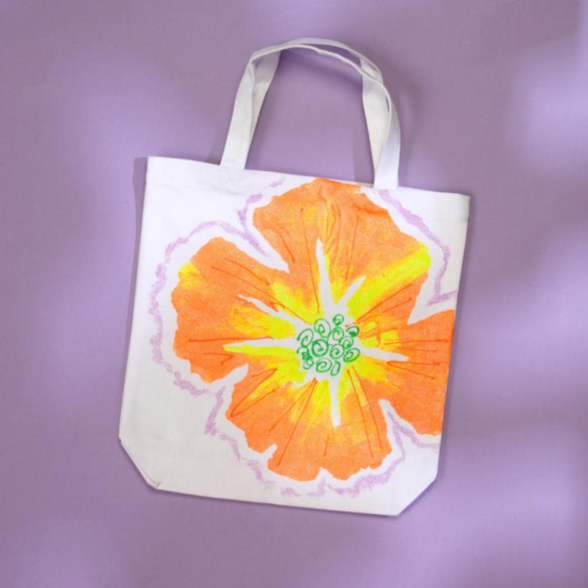 Spring Crafts Flower Tote