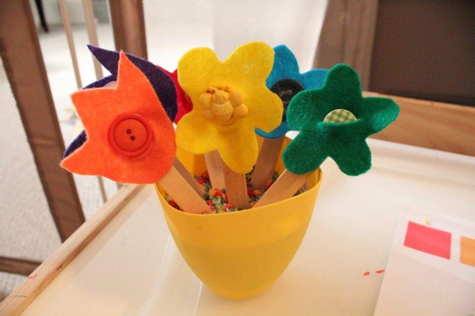 Spring Crafts Stick Flowers