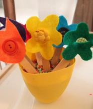 Spring Crafts Stick Flowers