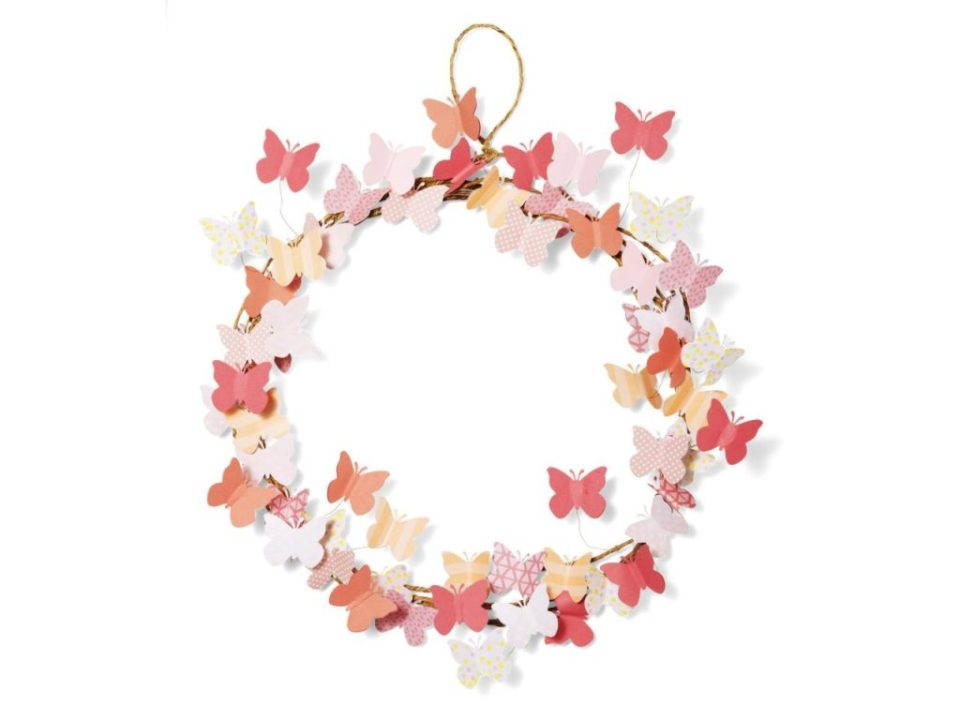 Spring Crafts Butterfly Wreath