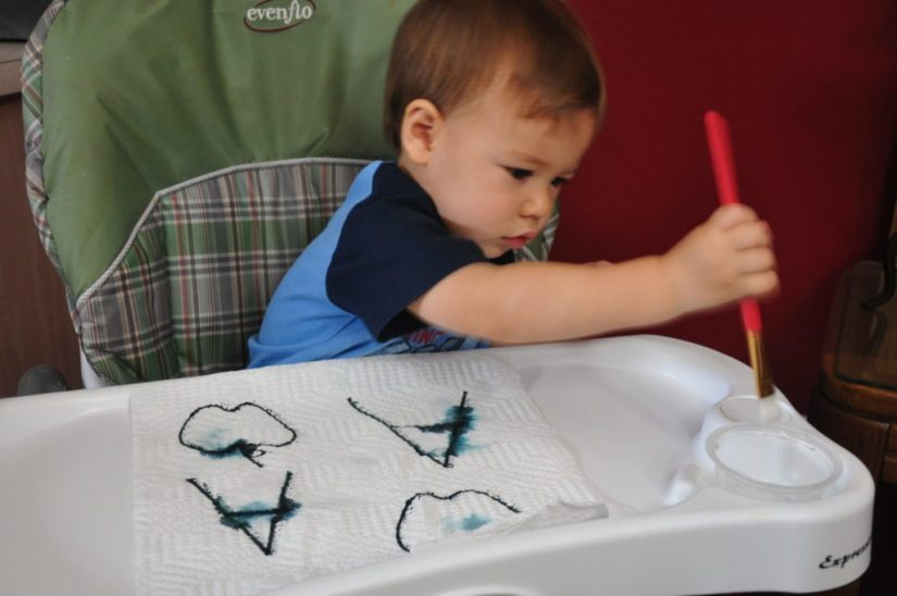Craft Paint Towel Painting