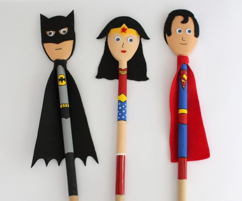 Wood Crafts for Kids Spoon Hero