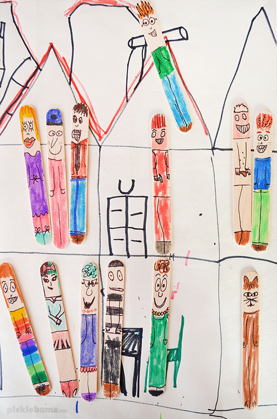 Wood Crafts for Kids Stick People