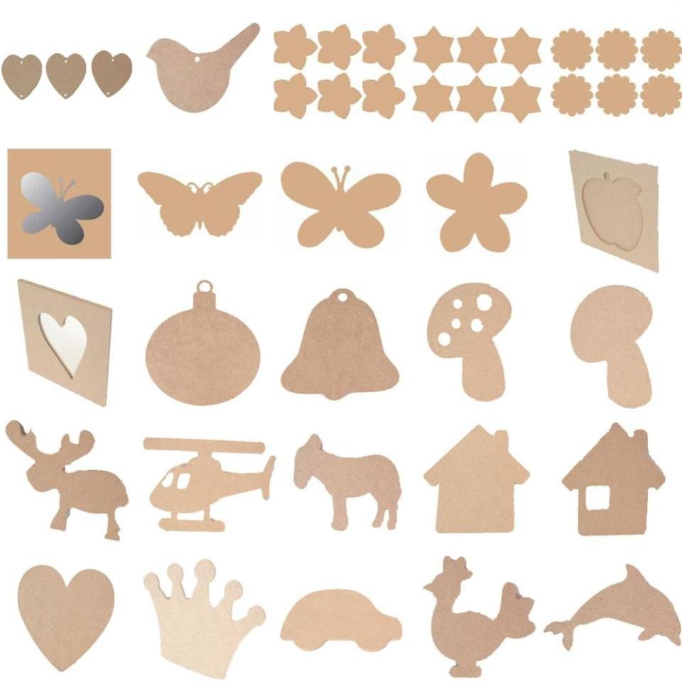 Art and Craft Supplies Shapes