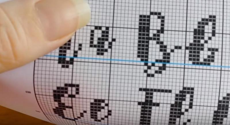 Cross Stitch Fonts Line