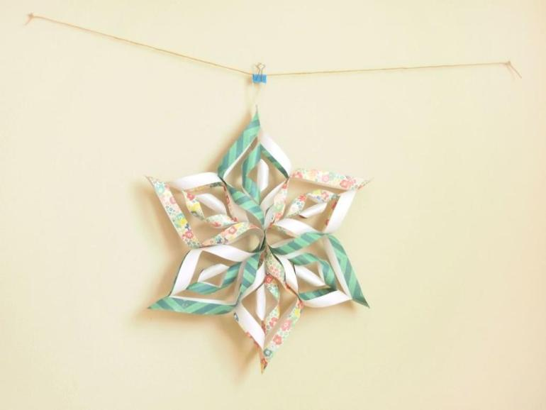 Paper Art for Kids Snowflake Decor