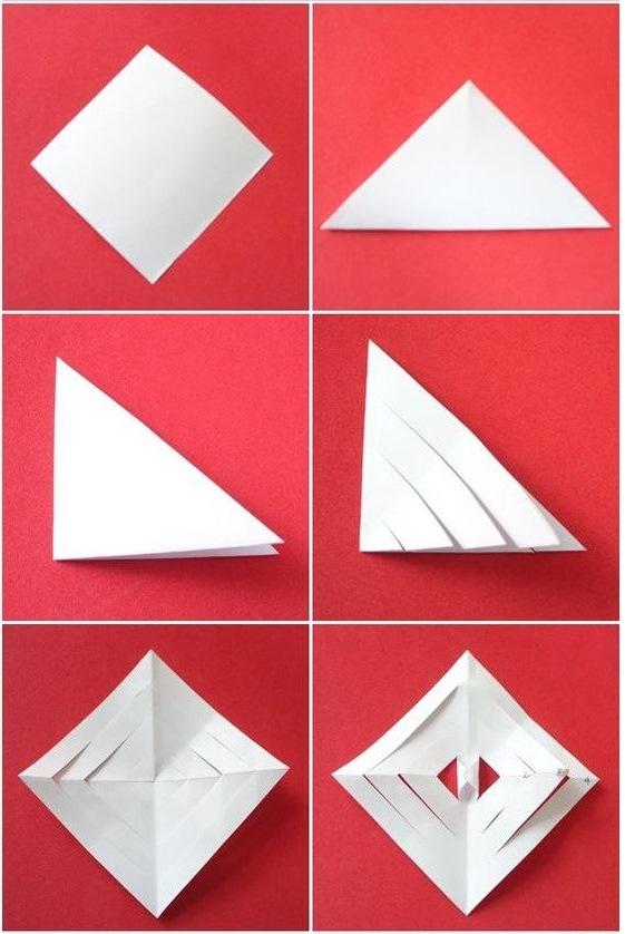 Paper Art for Kids Snowflake Tutorial Cut