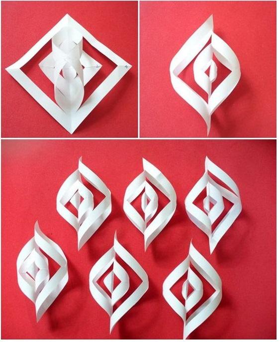Paper Art for Kids Snowflake Petals