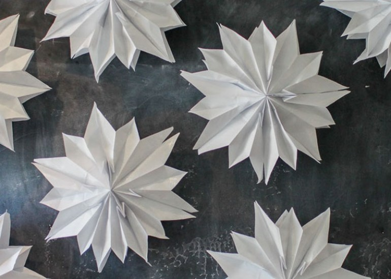 Paper Art for Kids Snowflakes Supplies