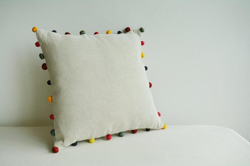Ecru Color Cushion