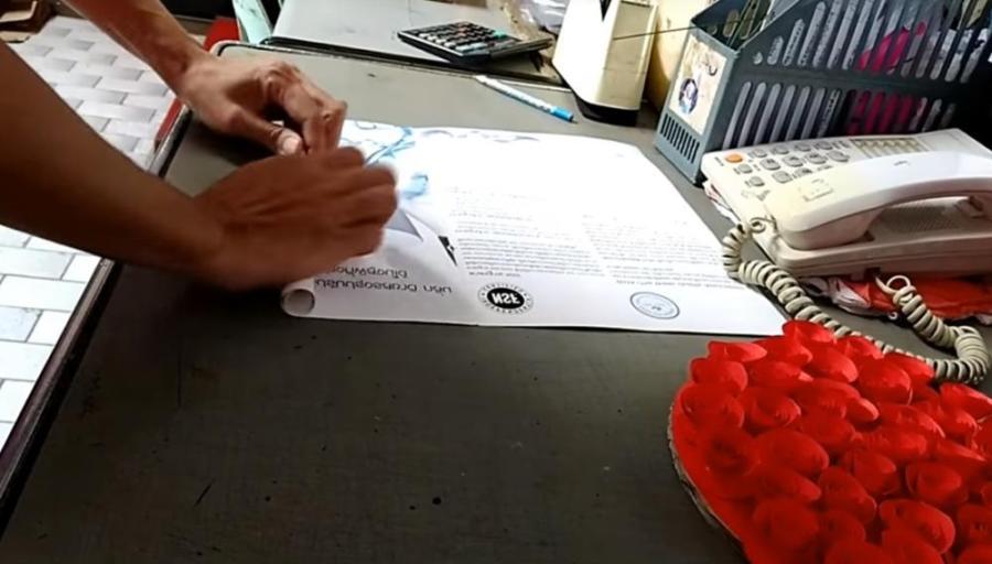 Paper Flower Bouquet Rolling Paper