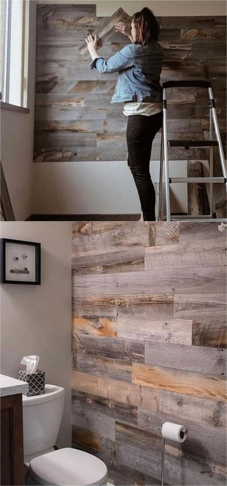 DIY Pallet Wall Cover