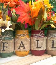 DIY Fall Decor Mason Jar