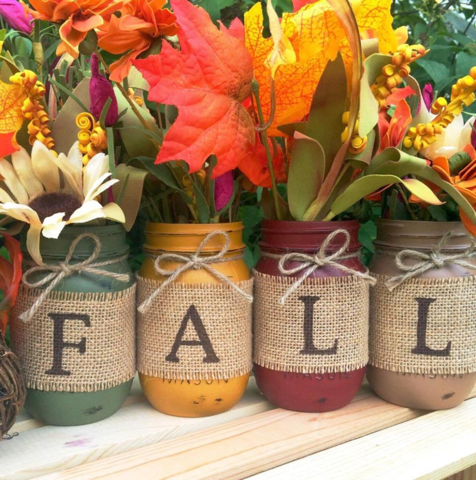 DIY Fall Decor Mason Jar