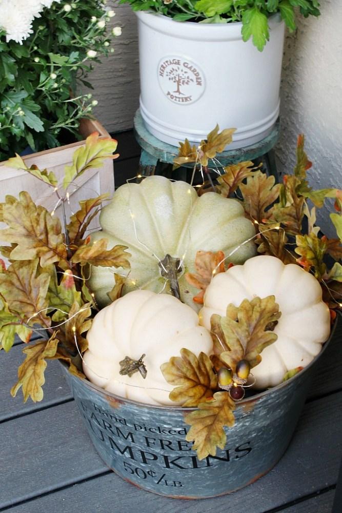 DIY Fall Decor Pumpkin Basket