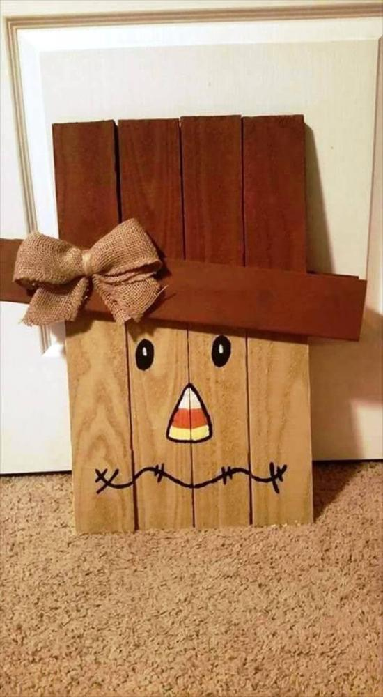Fall Crafts Wood Snowman