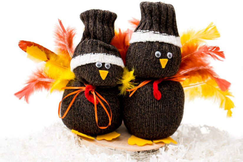 Holiday Crafts for Kids Sock Turkey
