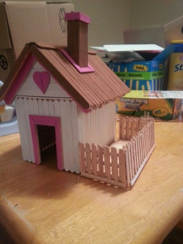 Popsicle Stick House Barn