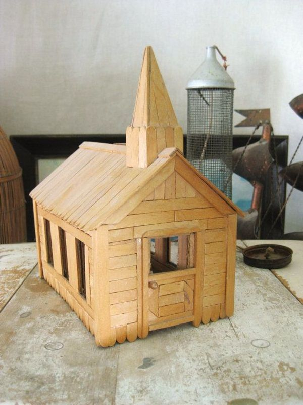 Popsicle Stick House Church