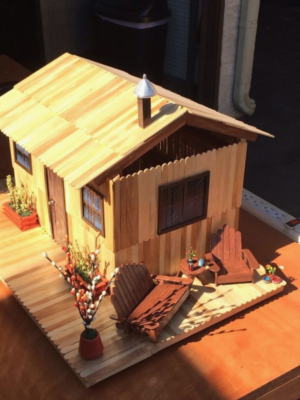 Popsicle Stick House Roof