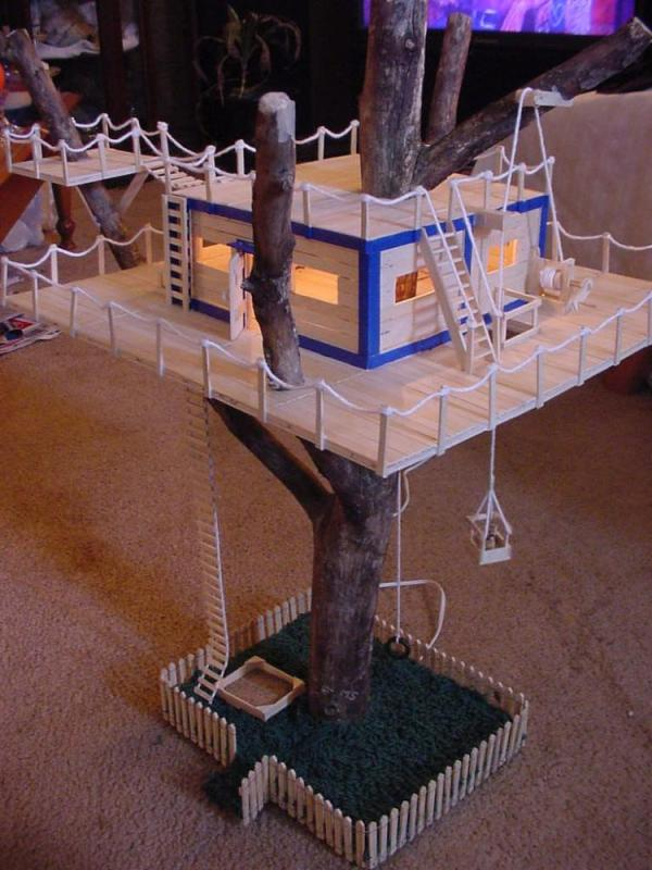 Popsicle Stick House Tree