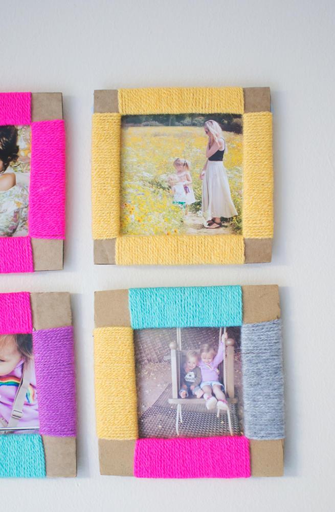 Yarn Crafts Photo Frames
