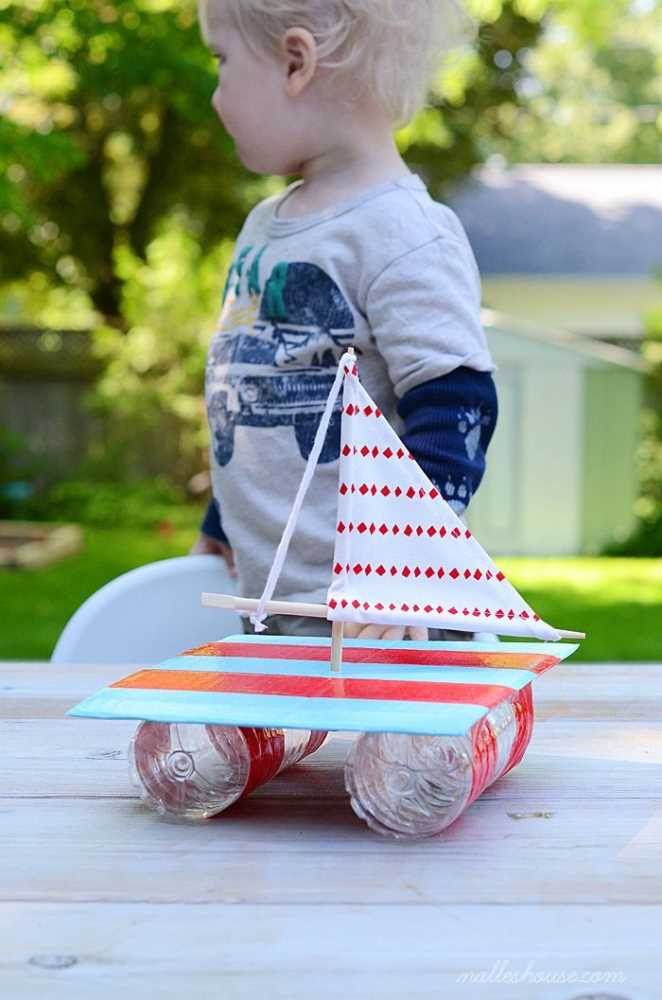 Crafts for Bottles Sailing Boat