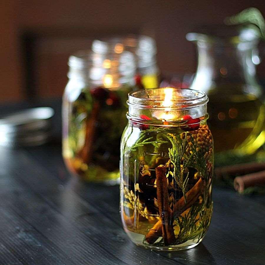 Crafts for Mason Jars Oil Lamp
