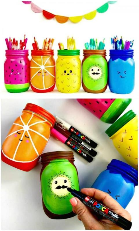 Crafts for Mason Jars Pen Holder