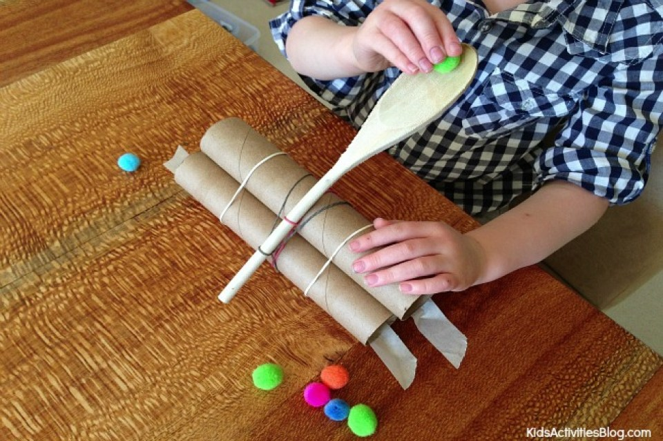 How to Make a Catapult Cardboard